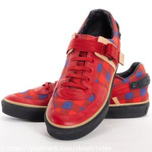 Damier Masai Checkered Red Blue Sneakers - RARE!